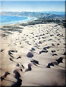 Air Shot of the Pismo Oceano Sand Dunes